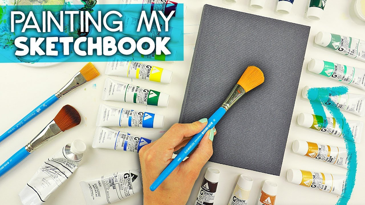 Customizing my Sketchbook Cover with Gouache Paints!
