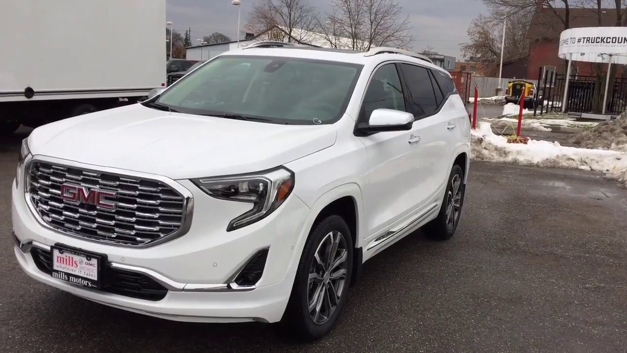 2018 Gmc Terrain Denali White >> 2018 GMC Terrain AWD Denali Auto Park Hands Free Liftgate White Oshawa ON Stock #180374 - YouTube