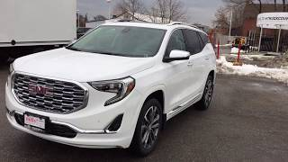 2018 GMC Terrain AWD Denali Auto Park Hands Free Liftgate White Oshawa ON Stock #180374