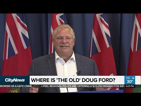 Doug Ford reigns in brash persona on campaign trail