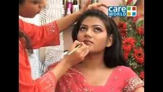 Индийский макияж в персиковых тонах