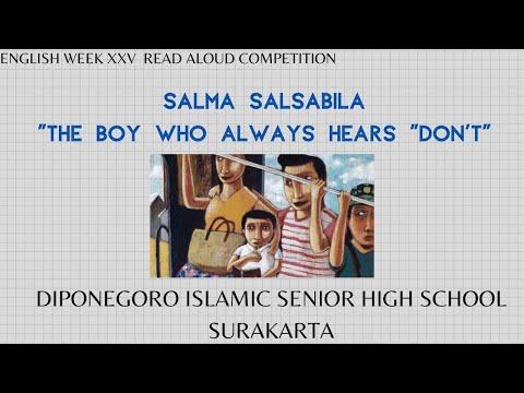 ENGLISH WEEK XXV READ ALOUD COMPETITION | SALMA SALSABILA | SMA ISLAM DIPONEGORO SURAKARTA | THE BOY