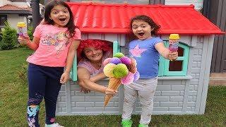 Şakacı Dondurmacı -  Sisters PRETEND PLAY WITH ICE CREAM , Ice cream Pranks