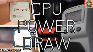 Real World CPU Power Draw Testing