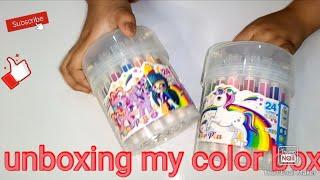 Unboxing my new marker colors||unicorn 🦄 colour box #unboxing#markercolours