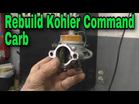 How To Rebuild A Kohler Command Carburetor with Taryl