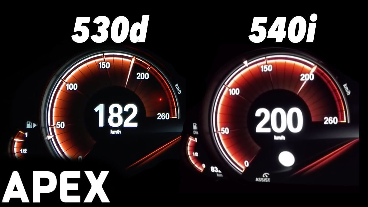 2017 Bmw 540i Vs 530d G30 Acceleration Sound 0 100 0