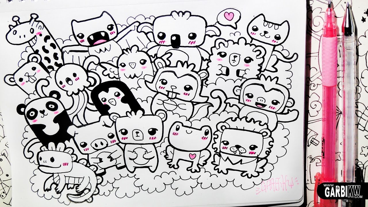 how to draw kawaii animals