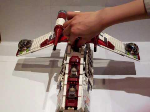 lego star wars 7676 republik attack gunship youtube. Black Bedroom Furniture Sets. Home Design Ideas