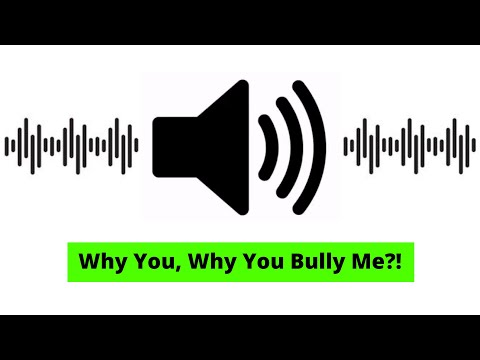 Why You, Why You Bully Me?! - Sound Effect