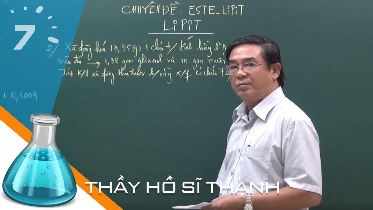 Hóa 12 Bài 2: Lipit | HỌC247