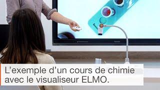 Utilisation du visualiseur de bureau ELMO L-12iD à l'école