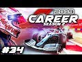 F1 2019 CAREER MODE Part 34: DISASTER FOR SOME BIG NAMES! RAIN MIXES THINGS UP!