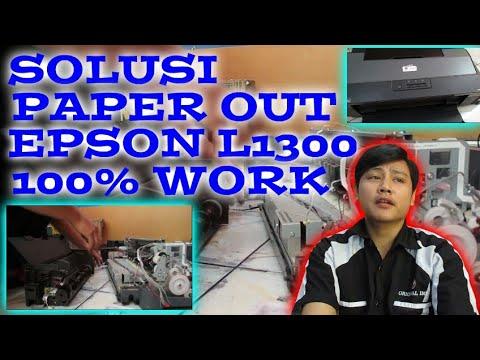 ATASI PAPER JAMMED DAN PAPER OUT EPSON L1300