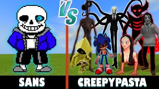 Sans vs. CreepyPasta | Minecraft (w/ Little Nightmares!)
