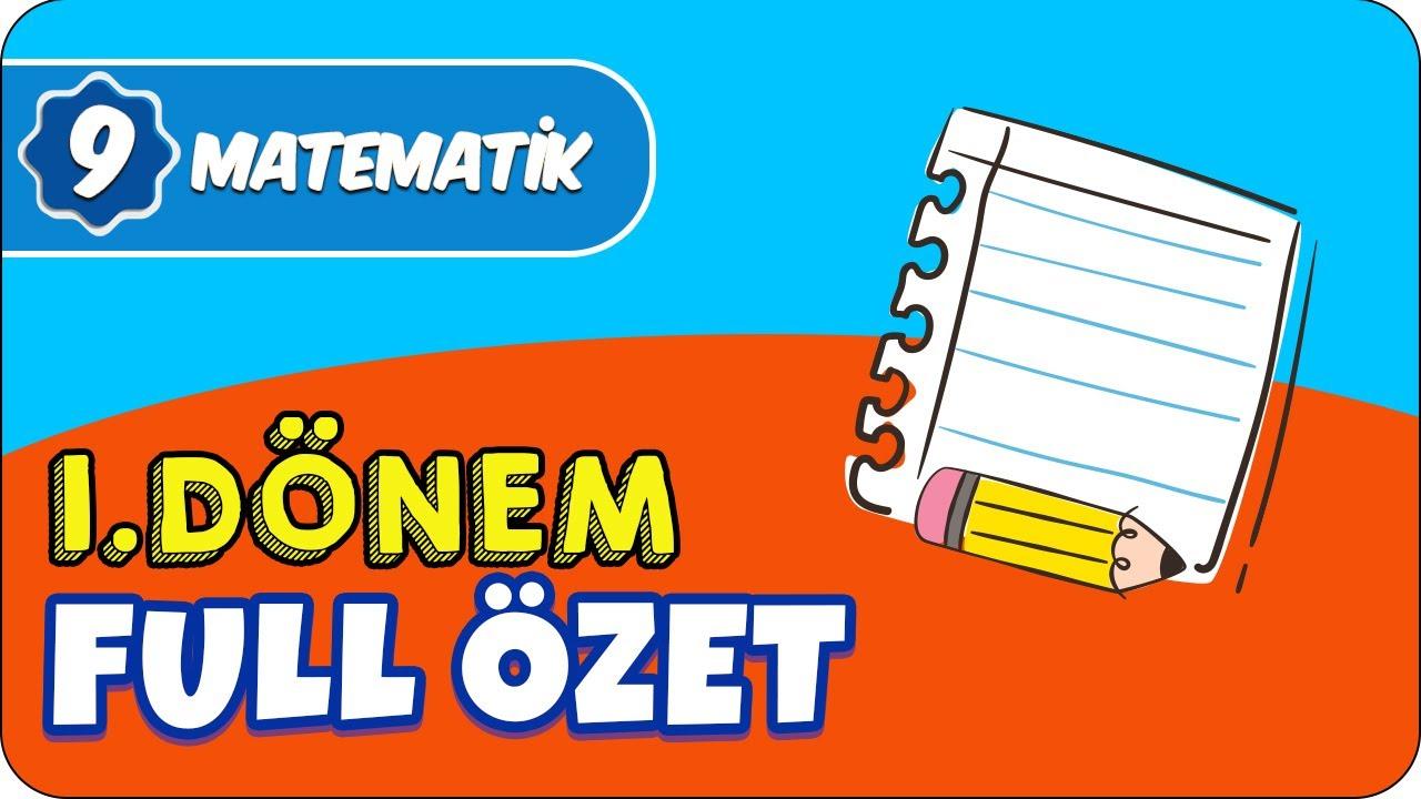 9.Sınıf Matematik 1.Dönem Full Özet ✍🏻