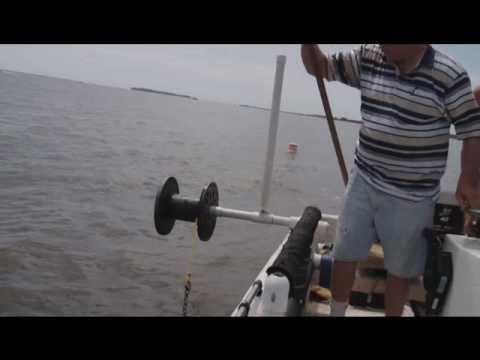 Crabbing Trotline on Bush River, MD