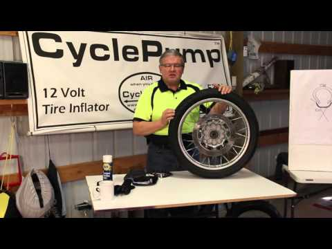 Seating A Tubeless Motorcycle Tire Using the BestRest BeadSetR