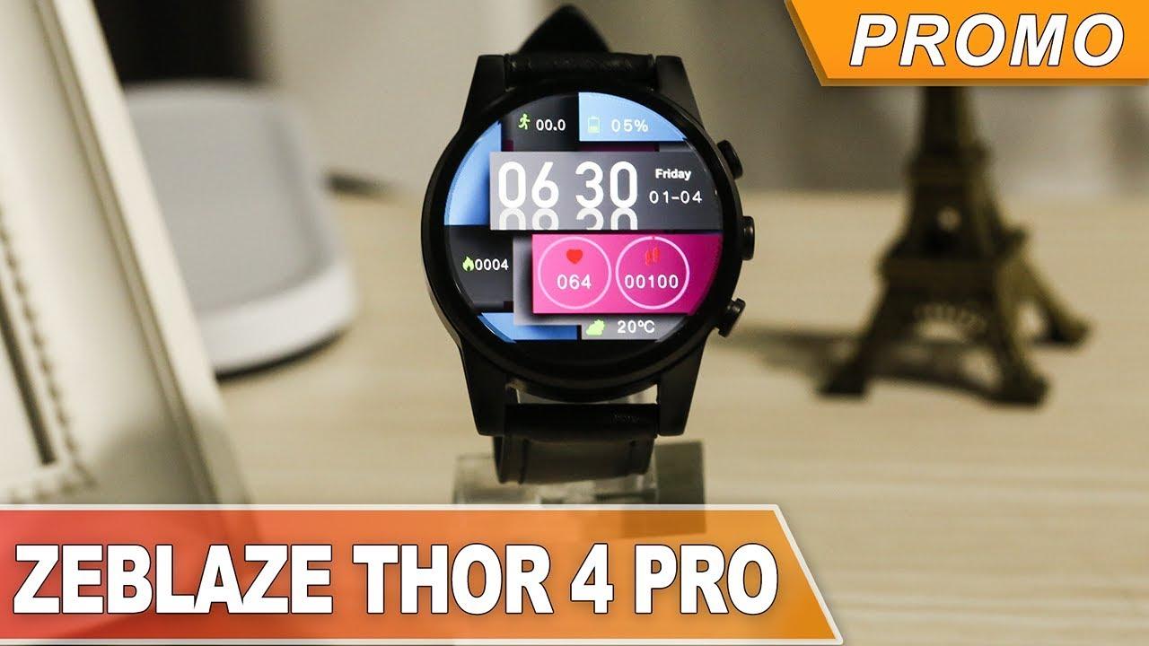 a68348752 zeblaze thor 4 pro مدمج gps 4g وايفاي 1.6 بوصة ltps كريستال عرض 1 + 16g  android7.1 600mah جلدية حزام ووتش هاتف بيع - Banggood.com|التسوق العربية