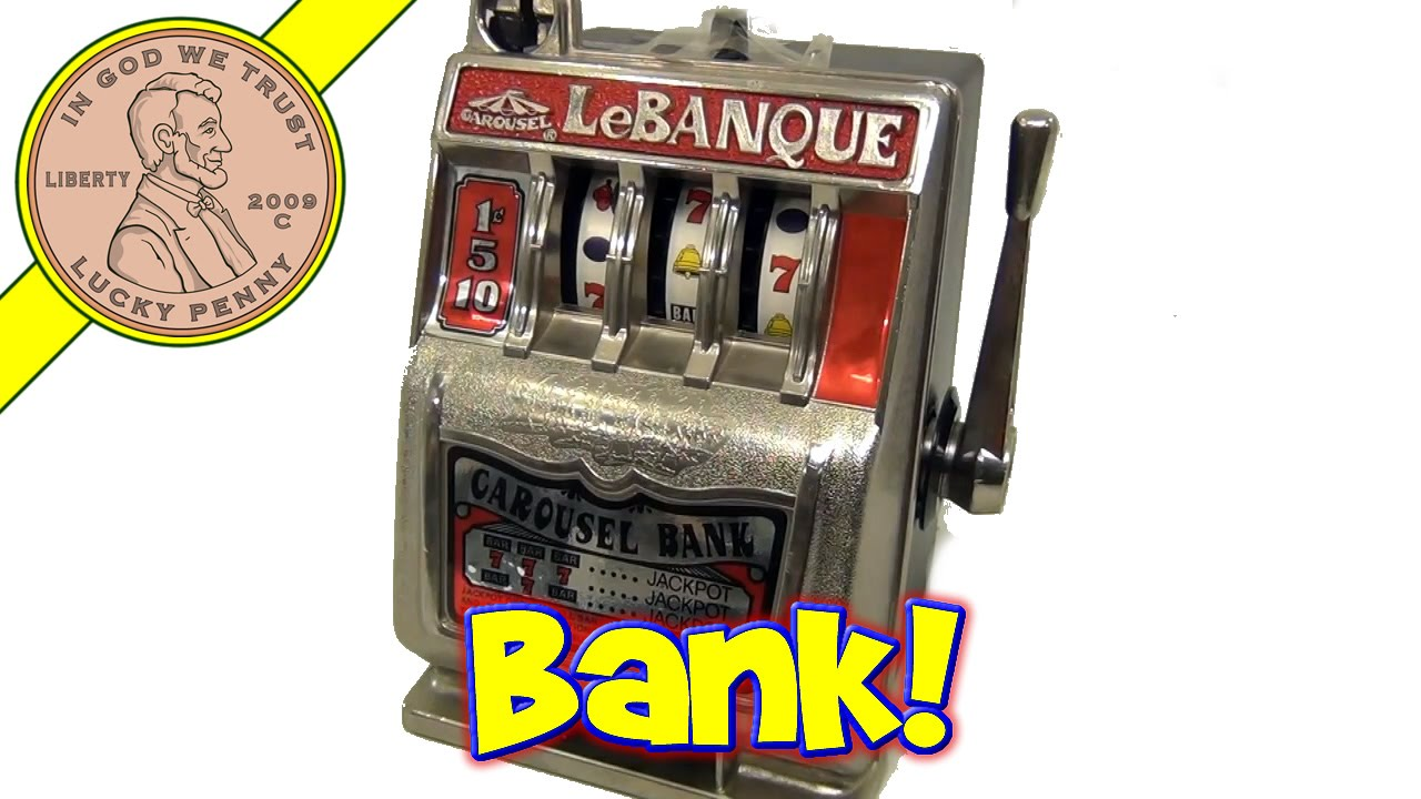 vintage lebanque carousel bank coin mini jackpot slot. Black Bedroom Furniture Sets. Home Design Ideas