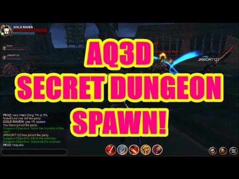 AQ3D SECRET Dungeon Spawn! AdventureQuest 3D