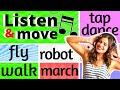 Gambar cover LISTEN and MOVE -al statues, freeze, brain breaks, exercise & parties *NO COPYRIGHT