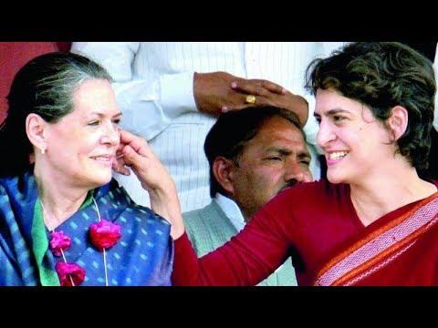 Priyanka Gandhi and Sonia Gandhi Address a Rally in Raebareli, UP