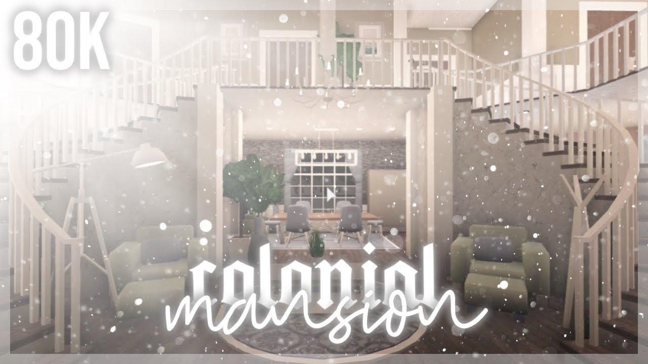 Roblox | Bloxburg: Colonial Mansion 80k | Speedbuild - YouTube