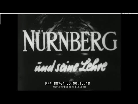 NÜRNBERG UND SEINE LEHRE  / NUREMBERG ITS LESSON FOR TODAY  HOLOCAUST TRIAL  SHORT VERS. 1948 88764