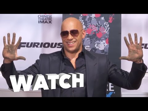 Full Vin Diesel's Hand & Foot Ceremony at Chinese Theater in LA