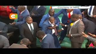 Uganda MPs fight in House chambers