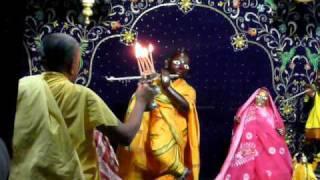 MANGAL ARATI  at   SRI RADHA DAMODAR MANDIR.