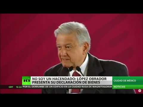 El presidente de México declara sus bienes