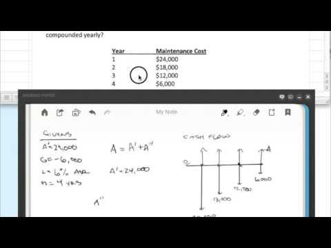 Arithmetic Gradient Uniform Series Example 2