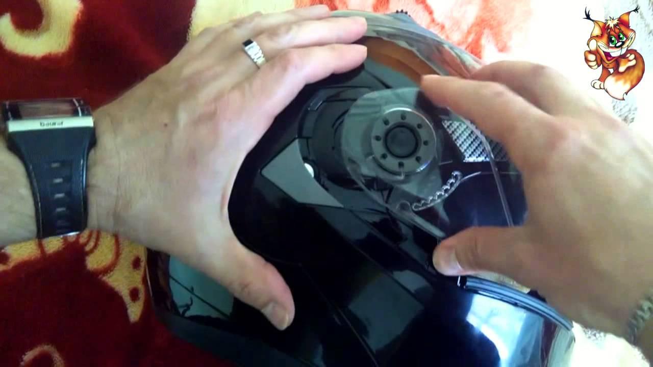 Замена Визора на Мотошлемах Icon Airmada - YouTube
