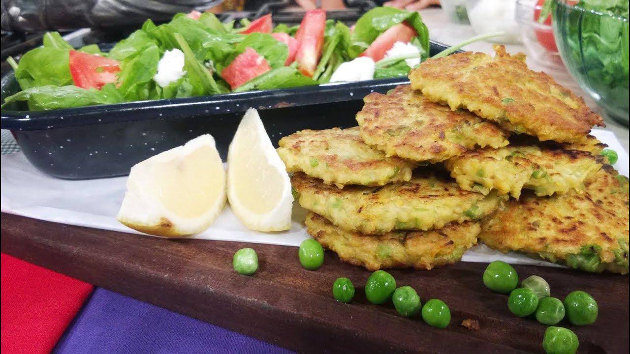 Croquetas de garbanzos con ensalada de tomate y sand a y - Ensalada de garbanzos light ...