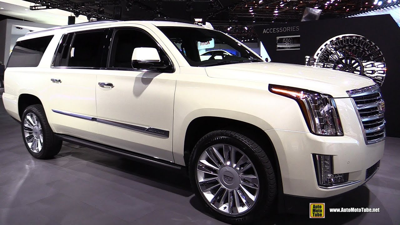 2015 Cadillac Escalade Platinum   Exterior And Interior Walkaround   2015  Detroit Auto Show   YouTube