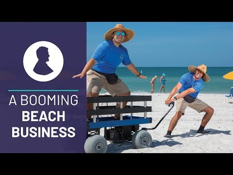 From Outdoor Jobs to a Booming Beach Business: These Two Best Friends Haul Your Stuff to The Beach