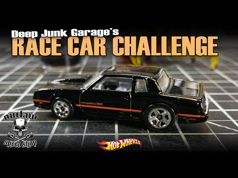 MONTE CARLO SS HOT WHEELS CUSTOM RACECAR | Deep Junk Garage Challenge Build