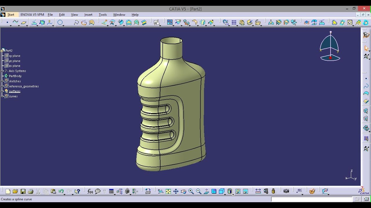 Catia Bottle with Surfaces
