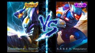 Ultimate Saber Skin Comparison | Codename Storm VS S.A.B.E.R. Regulator | Legends vs Epic