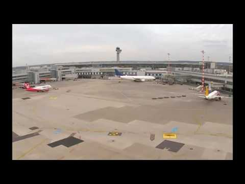 [webcam] Airberlin A320 oneworld pushback at Düsseldorf
