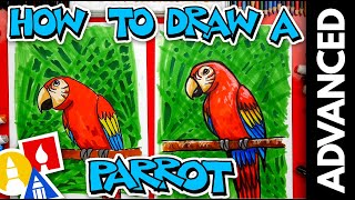 How To Draw A Bird (Parrot) - Advanced