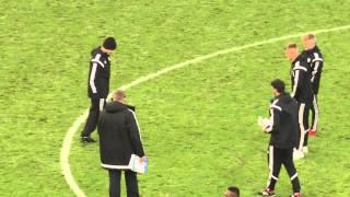 CARDIFF CITY FC GROUNDSMAN HIJACKS HALF-TIME SKILLS CHALLENGE