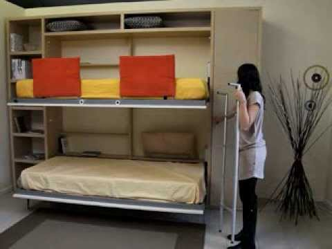 Space Saving Bunk Bed Classy Space Saving Folding Bunk Beds  Spaceman Tuckin Bunk Beds  Youtube Design Inspiration