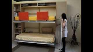 Space saving folding bunk beds - Spaceman Tuckin bunk beds
