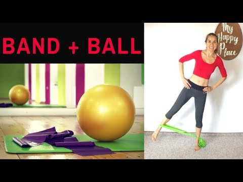 Hip + Booty BURN with Resistance Band and Ball