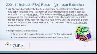 The Uniform Guidance - Indirect (F&A) Rates