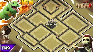 NEW TOWN HALL 9 WAR/TROPHY BASE 2018! TH9 ANTI 3 WAR BASE WITH REPLAYS!! - CLASH OF CLANS(COC)