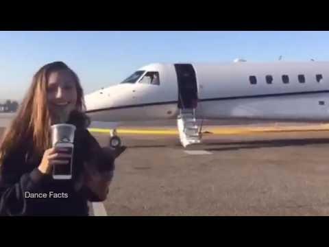 Maddie Ziegler on Sia's Private Jet